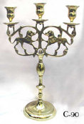 Three Light Polish Candelabrum