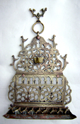 19th Century North African Oil Menorah