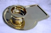 Keyhole Shaped Samovar Tray and Drip Bowl set