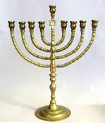 Cast Brass Branched Menorah- Poland