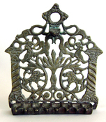 Oil Menorah with patina