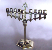 Art Deco European Chanukah Menorah