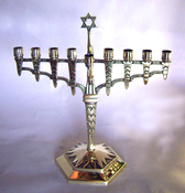 Magnificent Art Deco Menorah