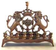 Antique Chanukah Menorah from the Old Country