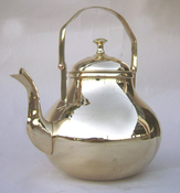 Pear Shaped Brass Teapot