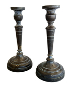 1830s Shabbos Candlesticks