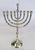 Antique Branched Chanukah Menorah from Poland