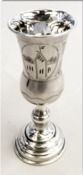 Antique Russian Silver Kiddush Goblet